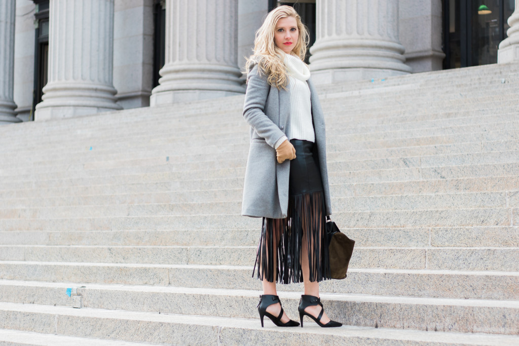 NYFW Fringe Skirt Full Body